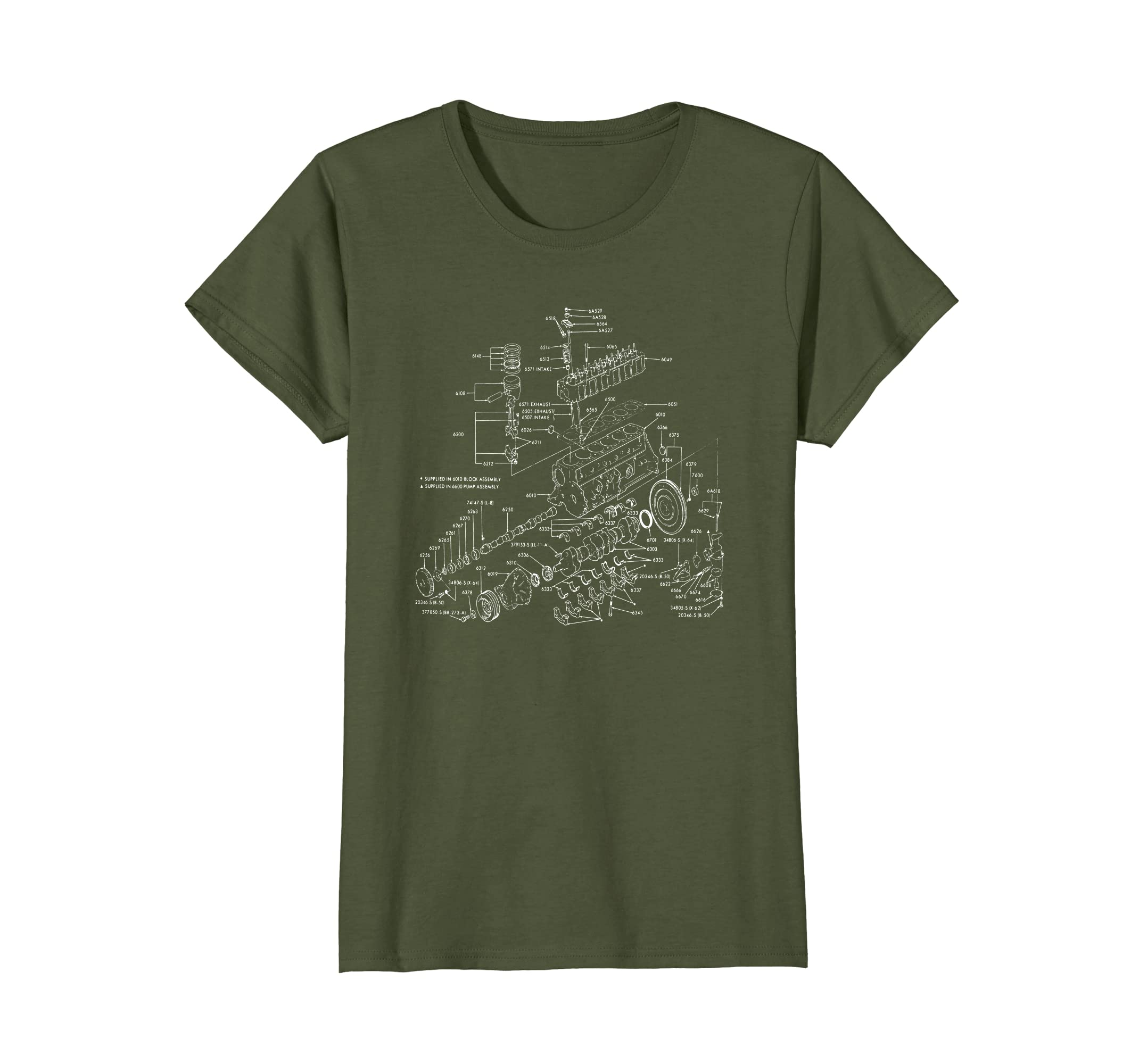 Amazon.com: V8 Engine Schematic Diagram: Clothing on