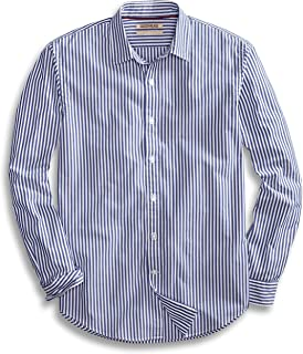 Amazon Brand - Goodthreads Men's Standard-Fit Long-Sleeve Banker Striped Shirt