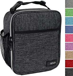 OPUX Premium Insulated Lunch Box | Soft Leakproof School Lunch Bag for Kids, Boys, Girls | Durable Reusable Work Lunch Pail Cooler for Adult Men, Women, Office Fits 6 Cans (Charcoal)