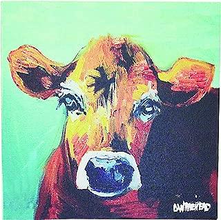 Creative Co-Op DA2249 Canvas Wall Décor with Cow Image