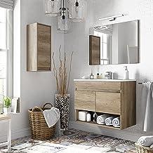 Miroytengo Pack mobiliario baño con Mueble, Espejo, Lavabo