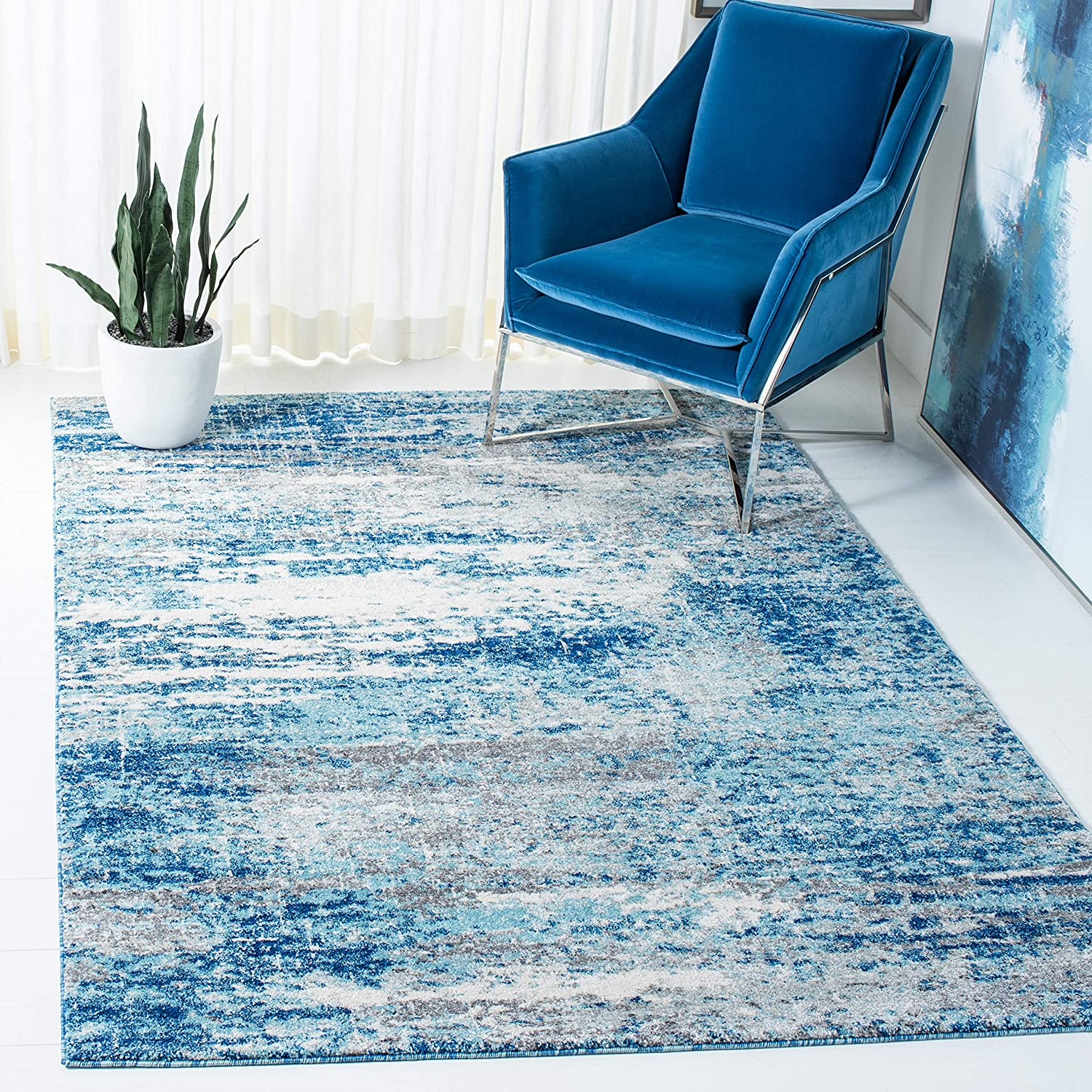 SAFAVIEH Evoke Collection EVK272M Abstract Max 80% OFF L Non-Shedding Modern Tucson Mall