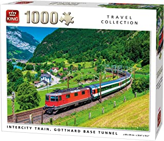 King 5716 Intercity Train Gotthard Switzerland Jigsaw Puzzle 1000-Piece, 68 x 49 cm