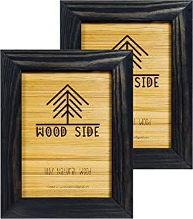 Rustic Wooden Picture Frame 5×7 Inch – Set of 2-100% Natural Eco Distressed..