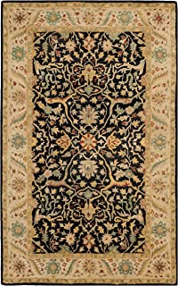 Safavieh Antiquities Collection AT14B Handmade Traditional Oriental Black Wool Area Rug (2'3