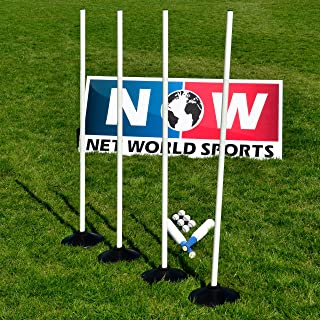 Net World Sports Rounders Bats, Balls, Bases and Poles – Hight Quality Traditional Rounders Equipment Wooden Rounders Bat