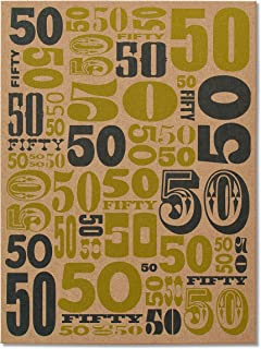 American Greetings 50th Birthday Card (Where Did The Time Go)