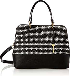 7089e62138 Fossil Damentasche ? Lane Satchel, Cartables femme, Noir (Black Stripe),  12.7
