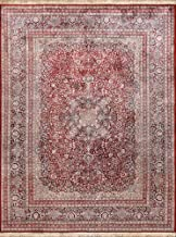 Pasargad Home Kashan Collection Hand-Knotted Silk Area Rug- 9' 3