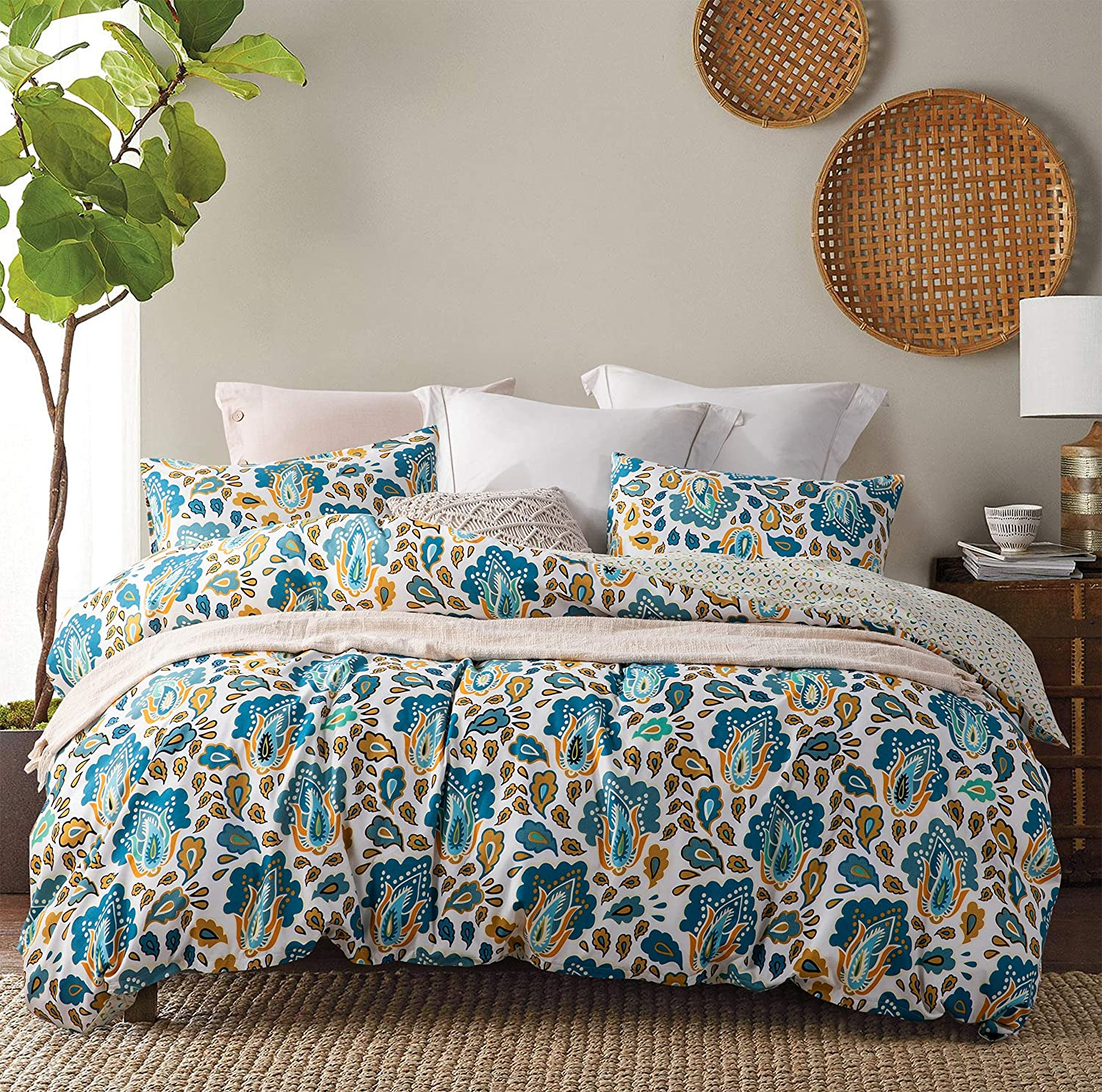 Direct store JOHNPEY Albuquerque Mall King Duvet Cover Sets Floral Various Ext