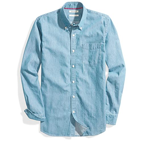 a9f7fbaef48 Goodthreads Men s Slim-Fit Long-Sleeve Denim Shirt