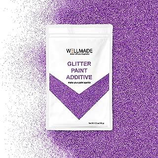 Wellmade Purple Glitter Paint Additive 150g/5.3oz for Wall Paint - Acrylic Latex Emulsion Paint - Interior Exterior Wall, Ceiling, Wood, Varnish, Dead Flat, Matte, Gloss, Satin, Silk (Lavendor)