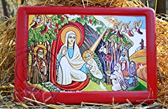 Coptic Nativity Icon 3D Acrylic Painted Religious Gesso Art Religious Gifts Buy (9.05