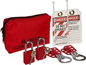 Brady Personal Lockout Tagout Pouch Kit - 105969,Includes 2 Safety Padlocks,Red