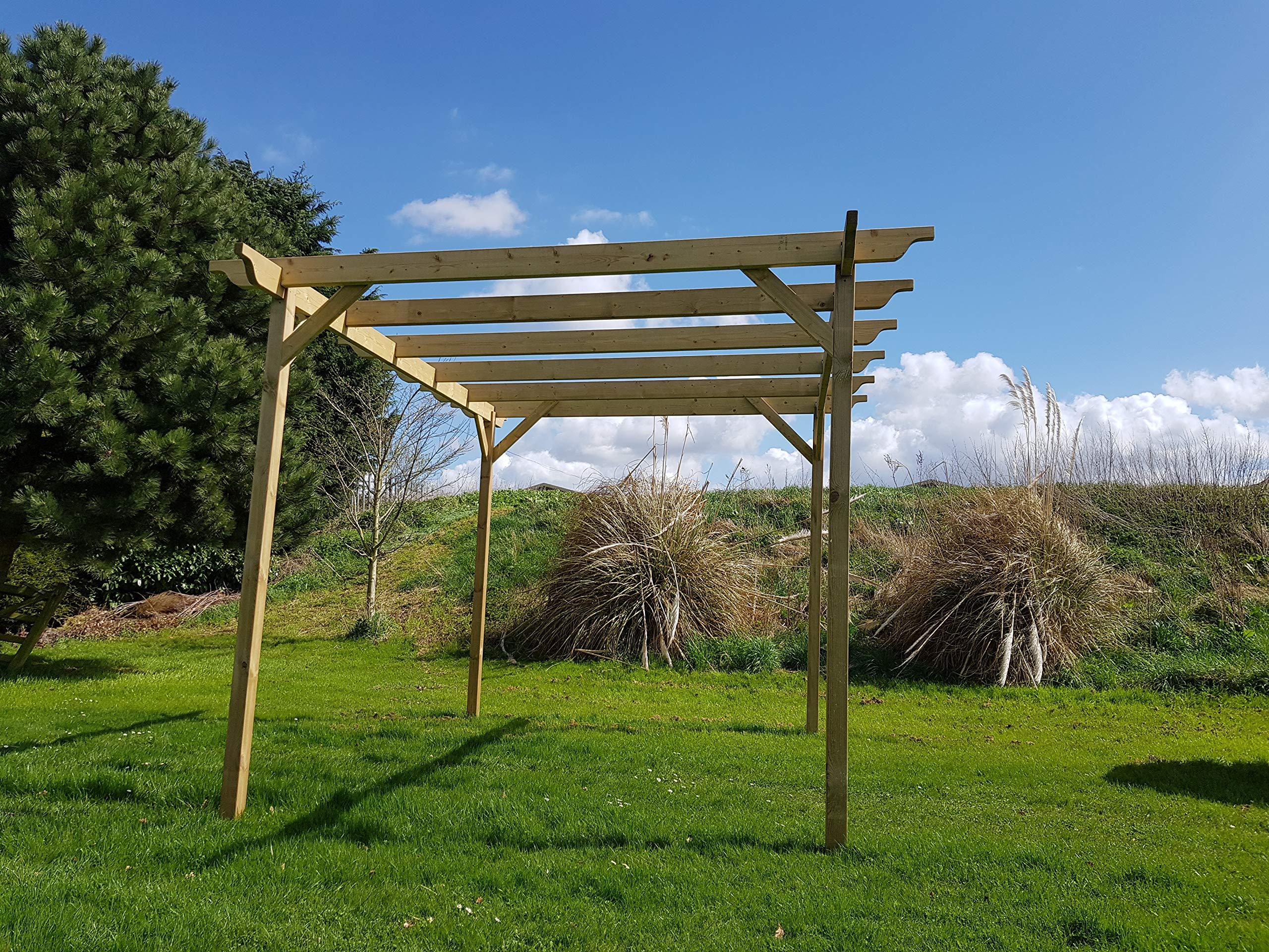 Arbor Garden Solutions Kit de pérgola de Madera para jardín, Gama Exclusiva de pérgola – 9 diseños – 42 Kits de tamaños: Amazon.es: Jardín