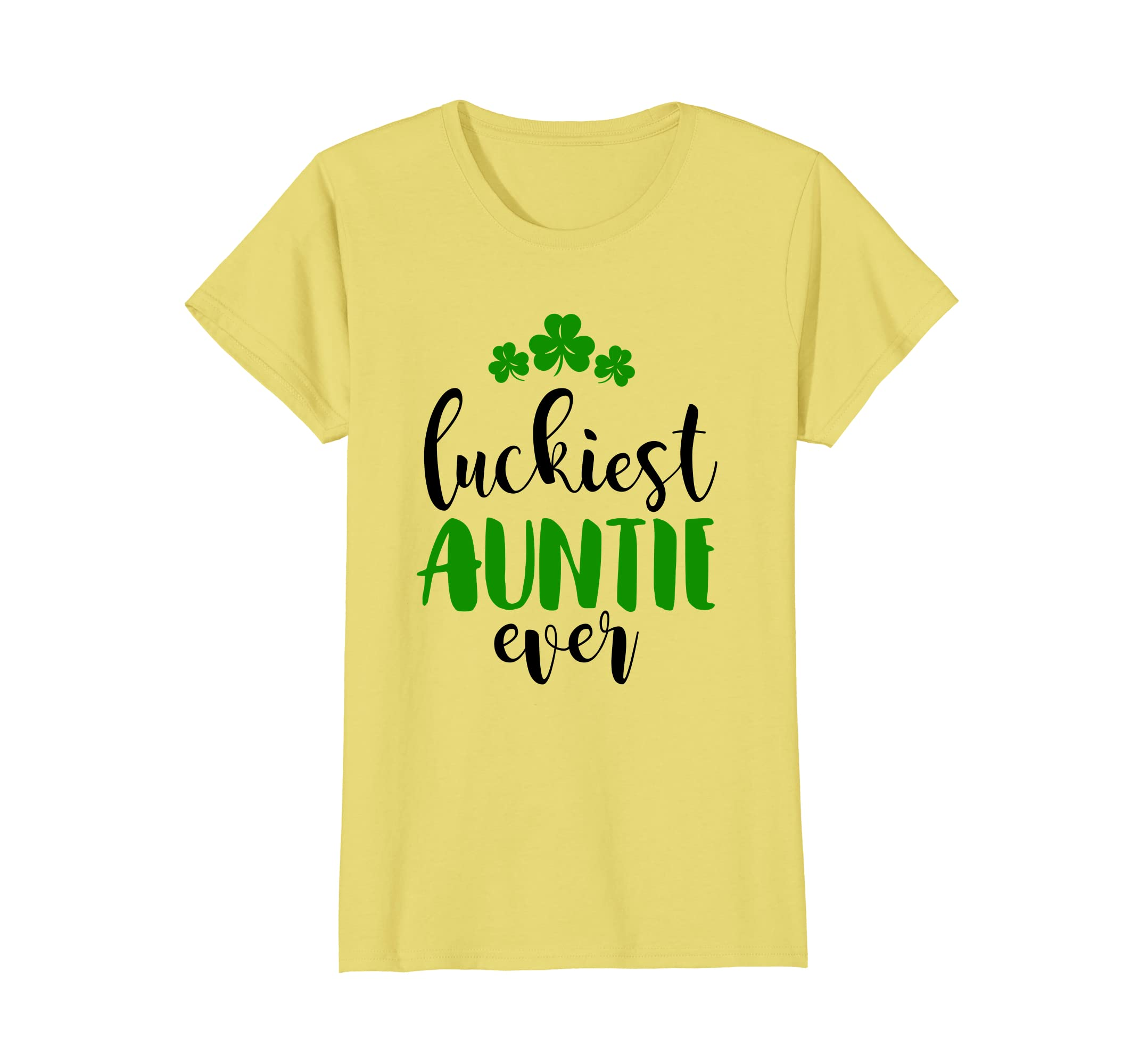 Luckiest Auntie Ever St Patricks Day T Shirt For Women Teleout