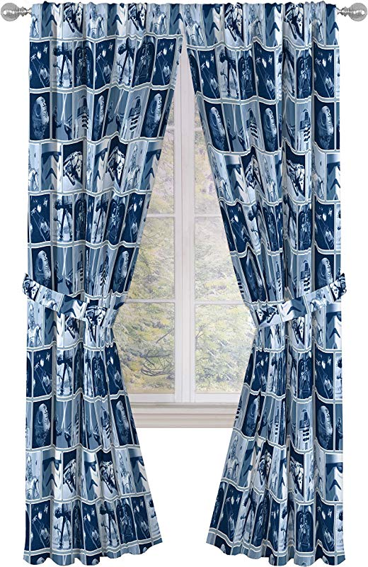 Jay Franco Star Wars Classic Space Battle 84 Inch Window Curtains Drapes 4 Piece Set Blue