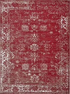 Burgundy 8' 11 x 12' FT Canterbury Rug Modern Traditional Vintage Inspired Overdyed Area Rugs