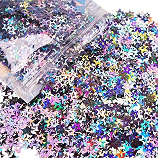 10 Grams - Holographic Stars Cosmetic Glitter - Festival Rave Beauty Makeup Face Body Nail