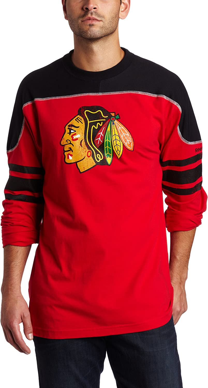 NHL Chicago Blackhawks Shootout Recommendation Max 55% OFF Team Sleeve Long Tee Men's