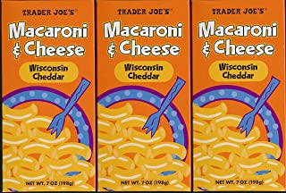 Trader Joes Macaroni & Cheese with Wisconsin Cheddar (Pack of 3)