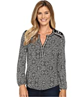 Lucky Brand - Mixed Peasant Top