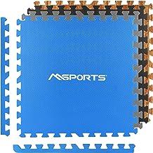 MSPORTS Vloerbeschermingsmatten set Premium - 8 beschermmatten 3,175m²   bodembescherming 60x60 cm incl. eindstukken   dik...