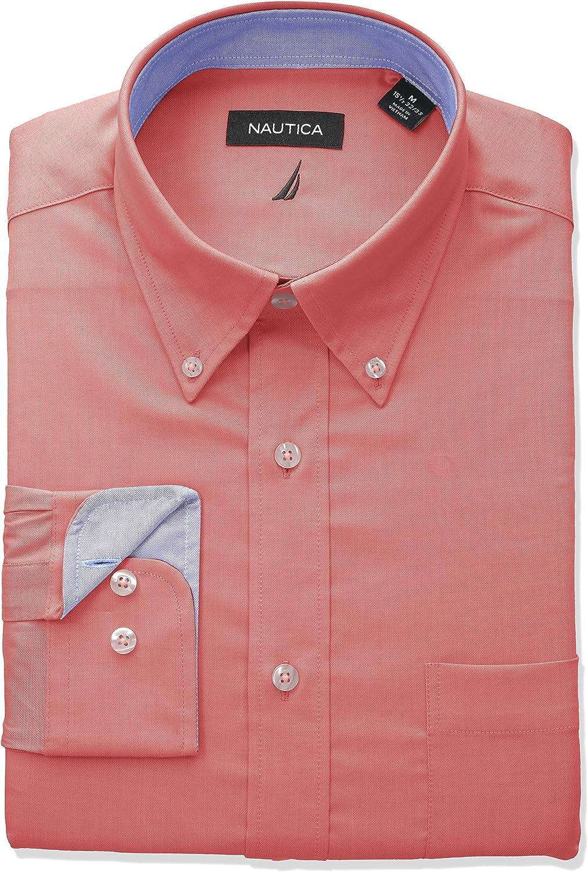 b1489c0fc Nautica Men's Classic Fit Performance Oxford Button Button Button Down  Collar DRS Shirt e41370