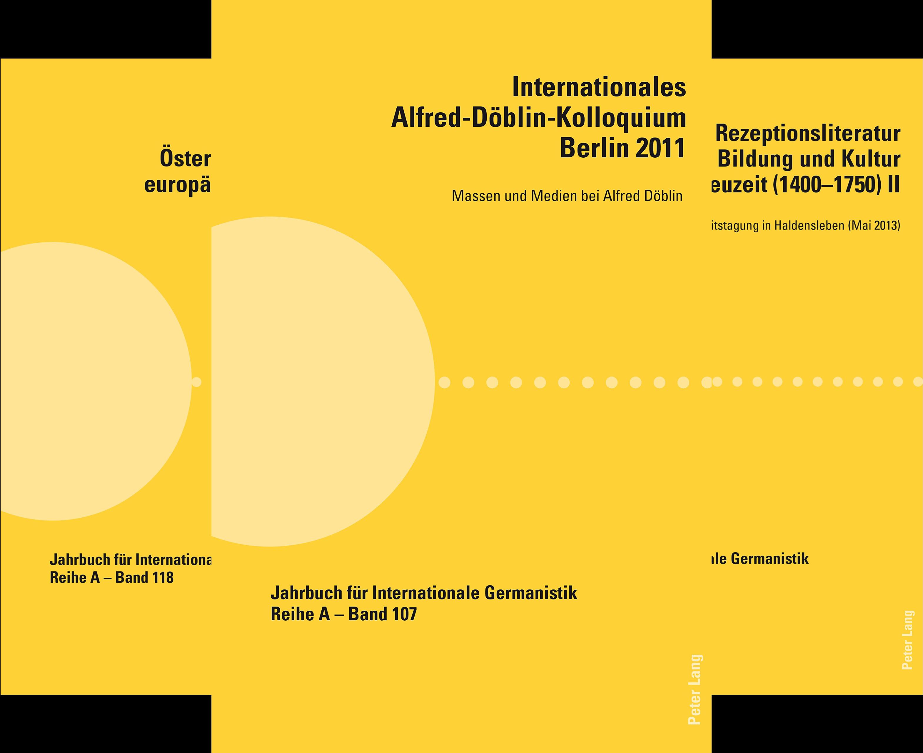 Jahrbuch für Internationale Germanistik (Reihe in 27 Bänden)