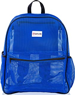 """Mesh Backpack XL (40L). 100% Clear Backpack with Key Holder, Bottle Opener, TSA Approved Lock. H20""""xW16""""xD8"""""""