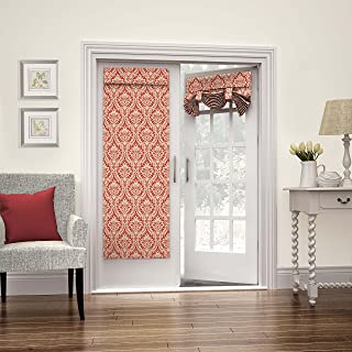 """WAVERLY French Door Curtain-Donnington 26"""" x 68"""" Tie Up Light Filtering Single Panel Drapes for Patio, Living Room and Bed..."""