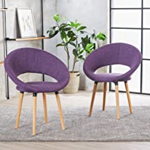 Christopher Knight Home 301203 Kagan Fabric Modern Dining Chair (Set of 2) (Muted Purple)
