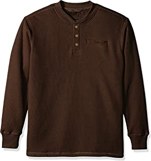 Smith's Workwear Sherpa-Bonded Thermal Knit Henley Pullover