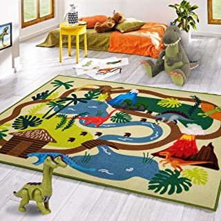 "Kid Rugs Dinosaur Activity Area Rug,39""X59""Educational Learning Carpet for Boys and Girls,Fun Rug playmat for Bedroom,Living Room and Gameroom,Fun Play Rug for Boys and Girls"