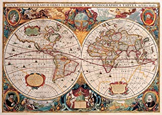 Old World Map 1,000 Piece Jigsaw Puzzle