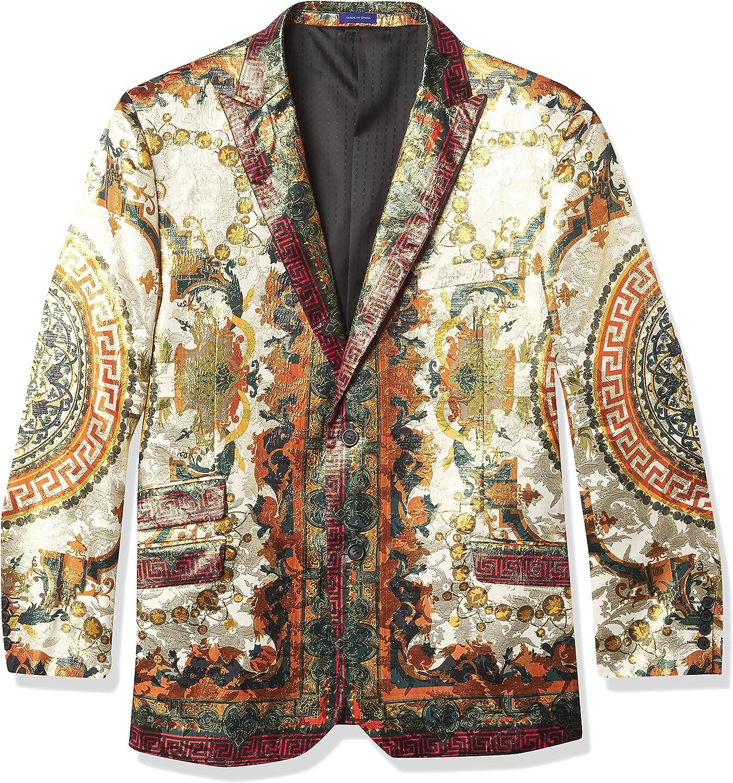 blu martini Men's Casual Suit Blazer with Entire Back Design