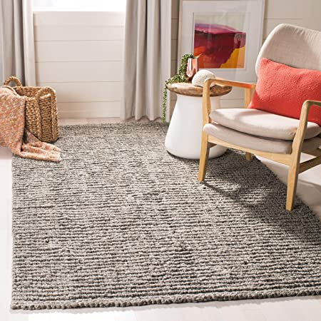 Amazon Com Safavieh Natural Fiber Collection Nf447g Handmade Chunky Textured Premium Jute 0 75 Inch Thick Accent Rug 2 X 3 Light Grey Furniture Decor