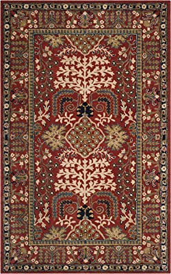 Safavieh Antiquity Collection AT64A Handmade Traditional Oriental Premium Wool Area Rug, 5' x 8', Red / Multi