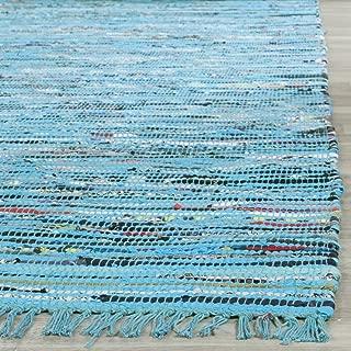 Safavieh Rag Rug Collection RAR125C Hand Woven Turquoise and Multi Cotton Area Rug (2' x 3')