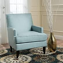 Christopher Knight Home Tilla Arm Chair, Light Blue