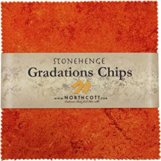 Stonehenge Gradations Brights Sunglow Stone Chips 42 5-inch Squares Charm Pack Northcott