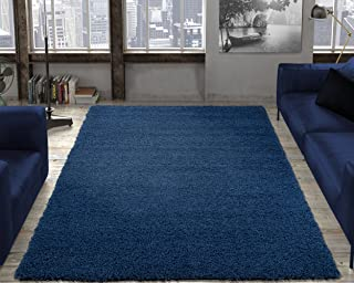 Ottomanson Soft Cozy Color Solid Shag Rug Contemporary Living and Bedroom  Soft Shaggy Area Rug Kids d01907271b