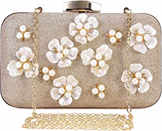 b6bdb35c35b Chichitop Women's Floral Beaded Design Evening Clutch Bags Wedding Purse