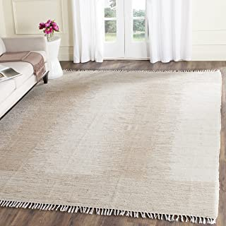 Safavieh Montauk Collection MTK752A Handmade Flatweave Beige Cotton Area Rug (5' x 8')