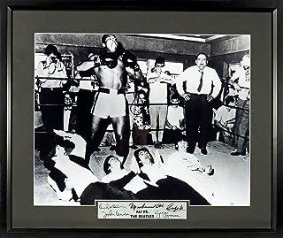 Muhammad Ali vs. The Beatles 16x20 Photograph Framed (SGA Signature Engraved Plate Series)