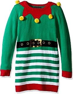Blizzard Bay Girls' Big 3D Pom Tunic Xmas Sweater