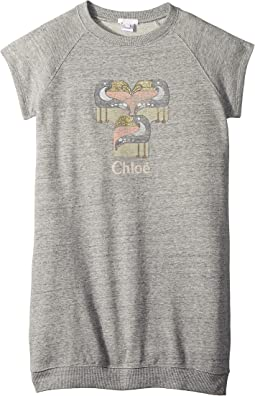 Chloe Kids - Mini Me Faded and Pelicans Short Sleeve Dress (Big Kids)