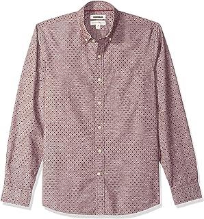 Goodthreads Men's Standard-Fit Long-Sleeve Polka Dot Homespun Chambray Shirt