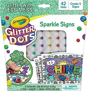 Crayola Glitter Dots Sparkle Signs, Glitter Craft Kit, Gift for Kids, 6, 7, 8, 9