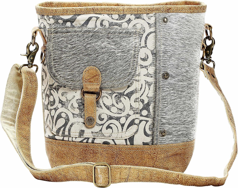 Myra Bag Flap Pocket Cowhide Shoulder Bag S-1125